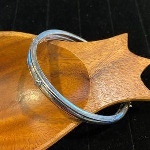 Lyric 925 Silver Diamond Accent Flower Bracelet